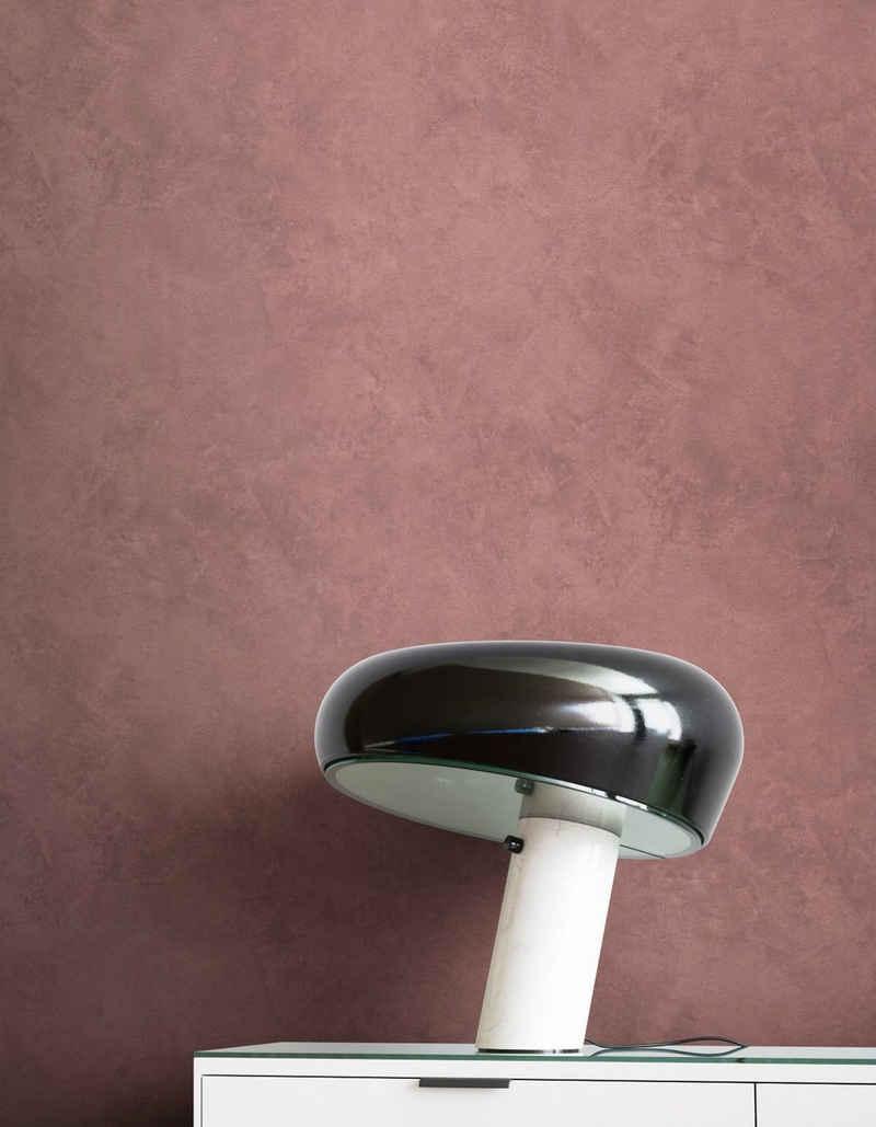 Newroom Vliestapete, Braun Tapete Modern Beton - Putzoptik Rot Betonoptik Uni Einfarbig Industrial Bauhaus für Wohnzimmer Schlafzimmer Küche