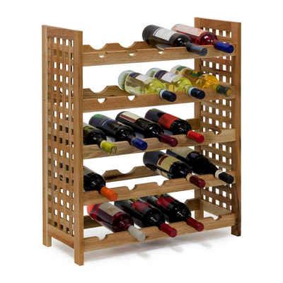 relaxdays Weinregal »Weinregal Walnuss für 25 Flaschen«