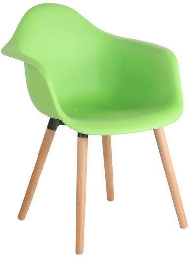 CLP Gartenstuhl »Gaffney« mit Kunststoff-Sitzschale und Buchenholzgestell