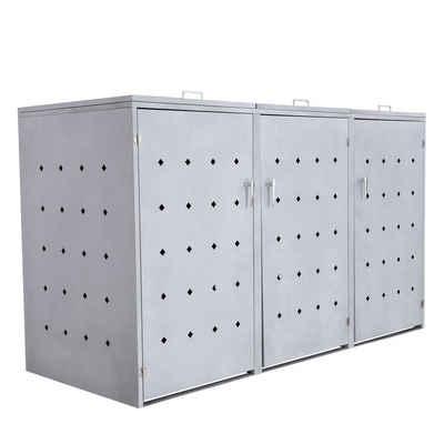 """Zelsius Mülltonnenbox »Mülltonnenbox """"Rhombus Cement"""" mit Klappdeckel für 3 Tonnen«"""