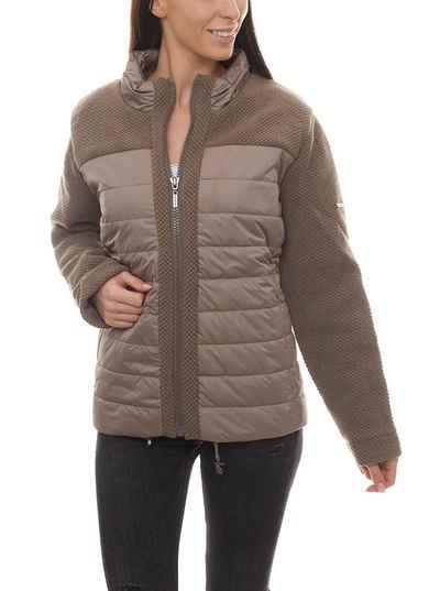 NoSecret Steppjacke »no secret Steppjacke warmhaltende Outdoor-Jacke Damen Übergangs-Jacke Große Größen Mode-Jacke Braun«