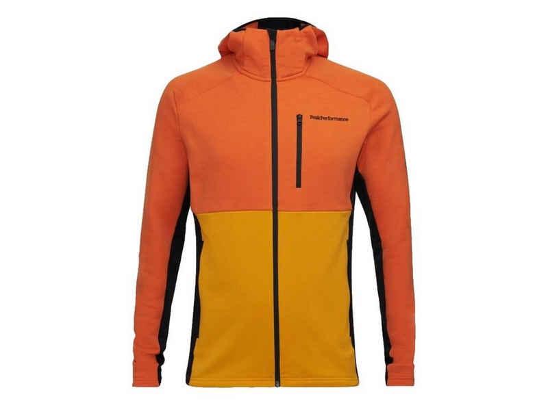 Peak Performance Kapuzensweatjacke »Peak Performance Vertical Sweater orange«