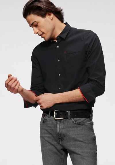 Calvin Klein Langarmhemd »SLIM FIT STRETCH POPLIN SHIRT« mit innenliegender Brusttasche
