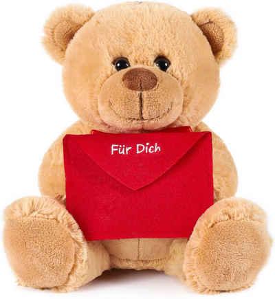 BRUBAKER Kuscheltier »Teddybär mit einem Umschlag« (1-St), Plüschtier mit Liebesbotschaft