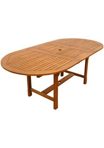 indoba Sodo stalas »Sun Shine« oval išskleidž...