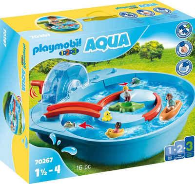 Playmobil® Konstruktions-Spielset »Fröhliche Wasserbahn (70267), Playmobil 123 - Aqua«, (16 St), Made in Germany