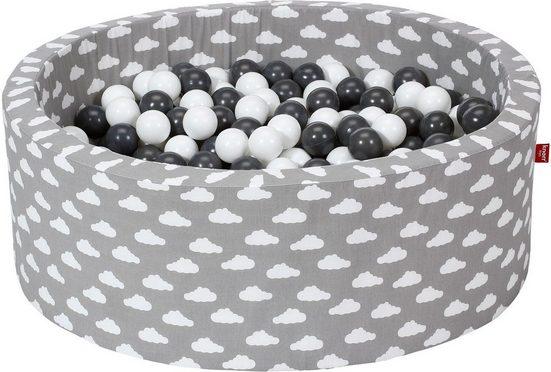 Knorrtoys® Bällebad »Soft, Grey white clouds«, mit 300 Bällen grey/creme; Made in Europe