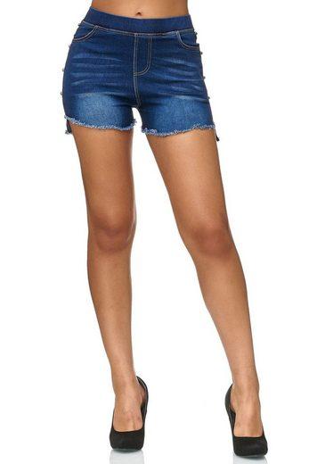 Egomaxx Jeansshorts »2420« Damen Jeans Shorts MIRI