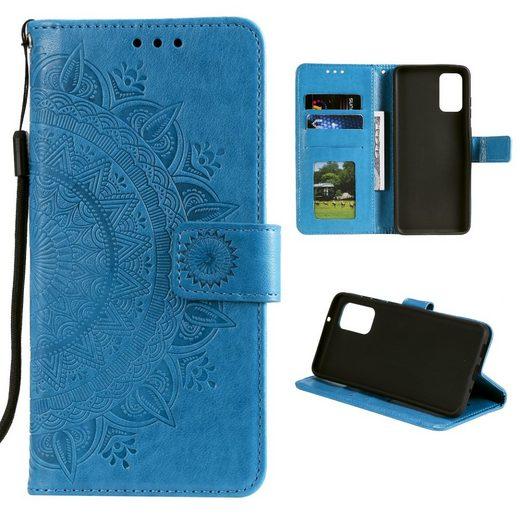 CoverKingz Handyhülle »Hülle für Samsung Galaxy A52/A52 5G/A52s 5G Handy Flip Case Cover Mandala Blau« Samsung Galaxy A52/A52 5G/A52s 5G 16,5 cm (6,5 Zoll), Handytasche mit Mandala Motiv und Kartenfach