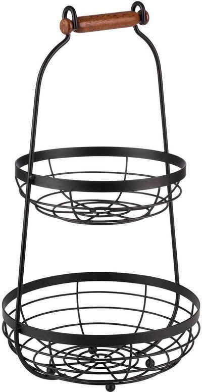 APS Etagere, Metall, mit Holgriff, Ø 26 cm, 2-stufig, vielseitig einsetzbar