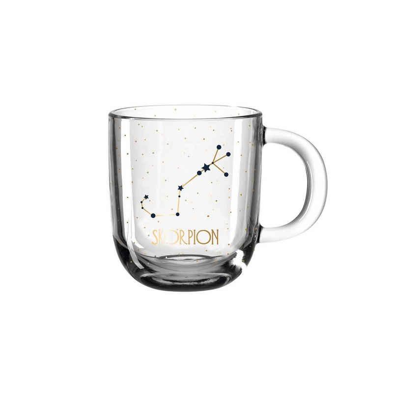 LEONARDO Tasse »Astro Becher Sternzeichen Skorpion 0,3l«, Glas