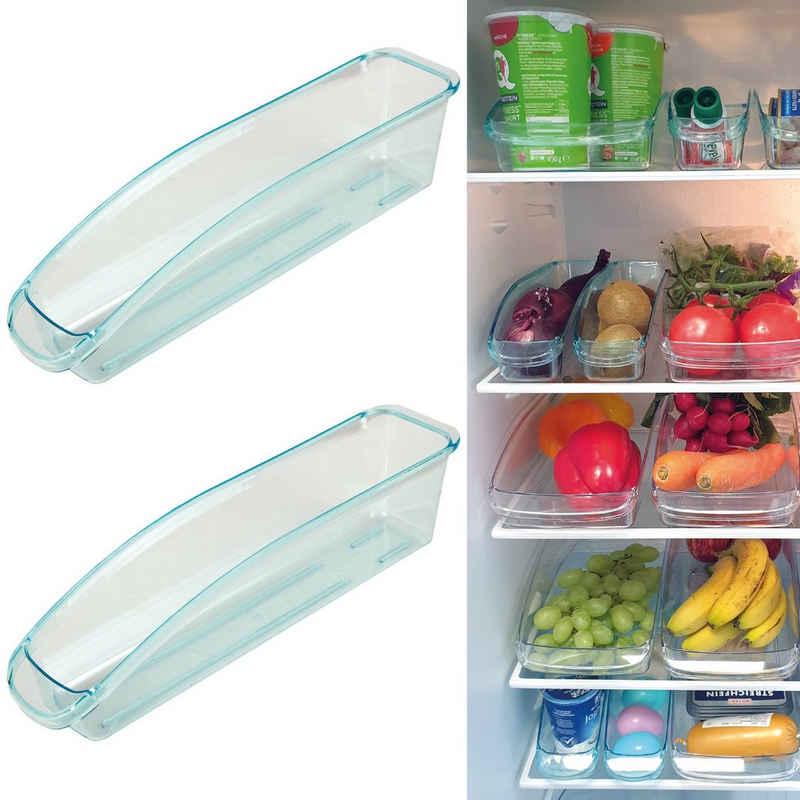 Bestlivings Aufbewahrungsbox »KB-04131«, Kunststoff, (2-tlg), Kühlschrankbox (33 x 7,5/15 x 8cm) Aufbewahrungsbox mit Griff Spülmaschinenfest - Lebensmittelechter Kunststoff - Organizer Küche