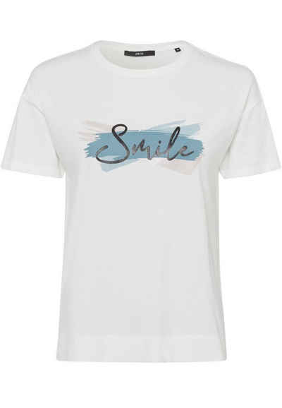 Zero T-Shirt »Oversized mit Druck« Plain/ohne Details