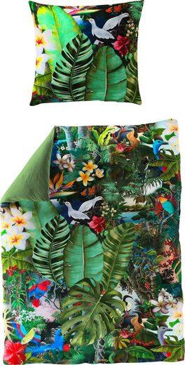 Wendebettwäsche »Tropical«, BIERBAUM, mit Blättern