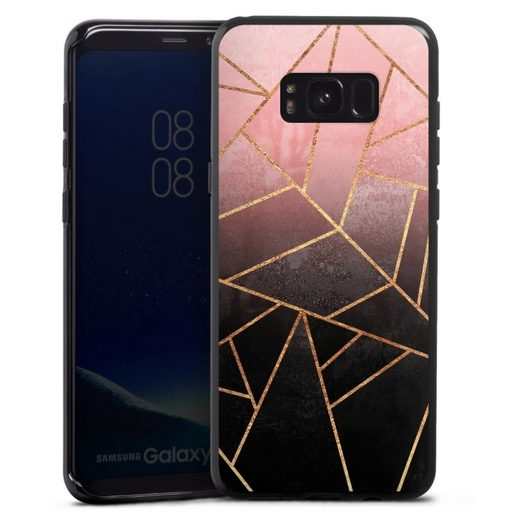 DeinDesign Handyhülle »Pink And Black Stone« Samsung Galaxy S8 Plus, Hülle Farbverlauf Geometric Gold