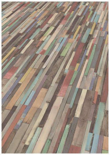 EGGER Laminat »EGGER HOME Dimas Wood bunt«, (Packung), ohne Fuge, 1292 x 245 mm, Stärke: 8 mm