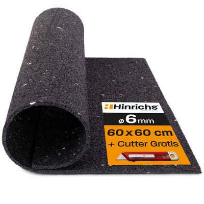 Hinrichs Antirutschmatte »Antivibrationsmatte 60 x 60 cm«, für Waschmaschinen - plus Cuttermesser
