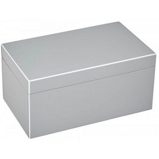 Giftcompany Schmuckkassette »Giftcompany Tang Schmuckbox M flannel / grau 28x13x17 cm«
