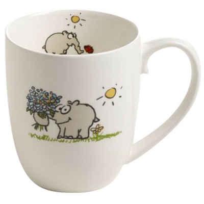 Ritzenhoff Tasse »Ritzenhoff Kaffeebecher - Ottifant mit Blumenstrauß«