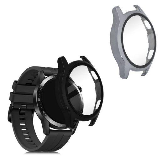 kwmobile Smartwatch-Hülle, 2x Hülle für Huawei Watch GT2 (46mm) - Fullbody Fitnesstracker Cover Case Schutzhülle Set