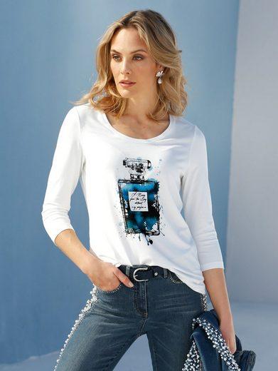 Amy Vermont Print-Shirt mit Motiv und Strasssteindekoration im Vorderteil