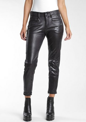 GANG 5-Pocket-Hose »Amelie« mit edel glänzender coating Beschichtung