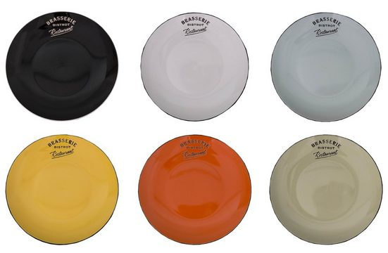 AnticLine Teller »6er Set Speiseteller Kuchenteller Teller Bistro Keramik 21cm Antic Line SEB15188«