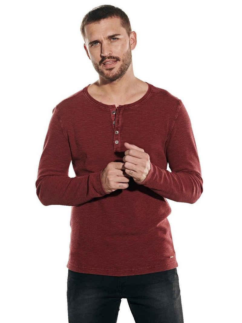 emilio adani Langarmshirt »Shirt im Henley-Design«