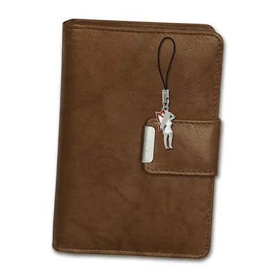 Money Maker Geldbörse »OPJ701C Money Maker Damen Börse RFID« (Portemonnaie), Damen Portemonnaie hoch Echtleder Größe ca. 9cm, tan (braun)