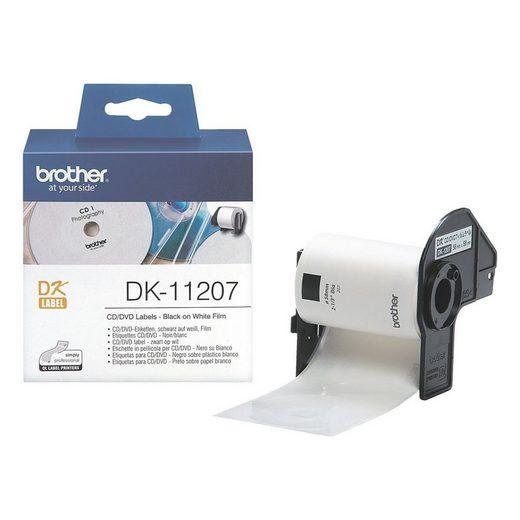 Brother Thermorolle »DK11207«, 100 CD-/DVD-Etiketten, Ø 58 mm