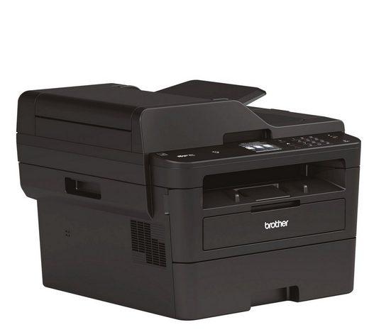 Brother Kompaktes 4-in-1 S/W-Multifunktionsgerät Laserdrucker, (WLAN (Wi-Fi), LAN (Ethernet)