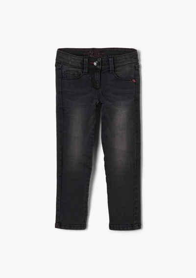 s.Oliver 5-Pocket-Jeans »Regular Fit: Stretchige Slim leg-Jeans« Waschung