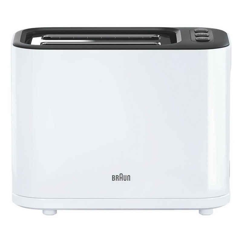 Braun Toaster PurEase HT 3010 WH, 1000 W, mit manuellem Brotheber