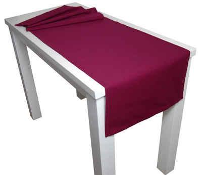 beties Tischläufer »Farbenspiel«, ca. 40x150 cm Tischband in interessanter Größen- und Farbauswahl 100% Baumwolle für eine fröhlich Stimmung Uni Farbe (Hibiskus-Beere)