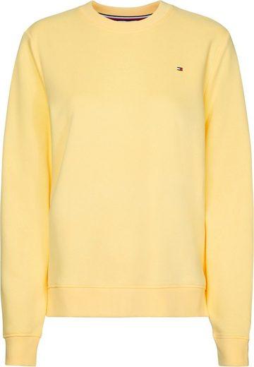 TOMMY HILFIGER Sweatshirt »CREW NECK SWEATSHIRT« Kleine Tommy Hilfiger Logostickerei