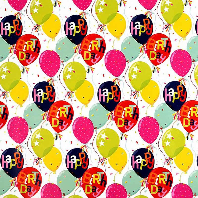 maDDma Geschenkpapier »1 Rolle Geschenkpapier Dekopapier Verpackungspapier Geschenkverpackung Motivwahl«, weiß Balloons