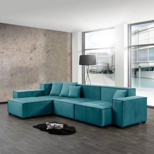 Max Winzer® Wohnlandschaft »MOVE«, Set, Sofa-Set 04 aus 10 Sitz-Elementen, inklusive 4 Zierkissen, individuell kombinierbar
