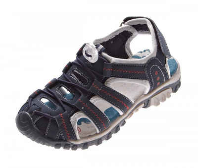 Magnus »Sandale Gummizug Leder Innensohle Klettverschluss« Sandale Ziernähte, Gummizug