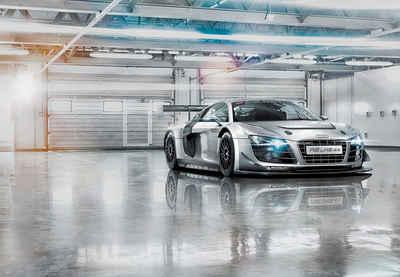 Komar Fototapete »Audi R8 Le Mans«, glatt, bedruckt, Wald, Meer, (Set), ausgezeichnet lichtbeständig