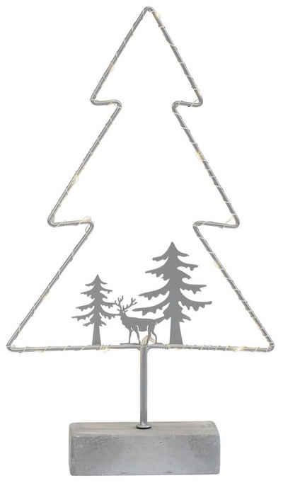 my home LED Baum »Timon«, LED Weihnachtsbaum, Gestell mit 15 warmen LED's, batteriebetrieben, überall aufstellbar, da kein Kabel vorhanden ist