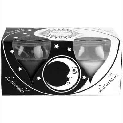 """HS Candle Duftkerze (2-tlg), Kerze im Glas """"Creation"""", 2er Pack mit je ca. 18 Std. Brenndauer, Höhe: 6cm, Ø5,8cm"""