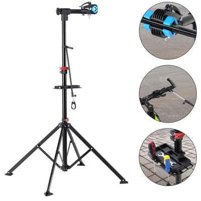 monzana Fahrrad-Montageständer, bis 30kg klappbar höhenverstellbar Mountainbike Fahrradständer Teleskop Montageständer