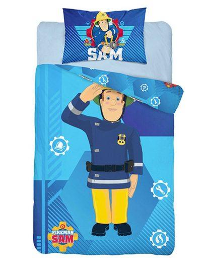 Babybettwäsche »Kleinkinder«, Feuerwehrmann Sam, 100x135 cm Deckenbezug 40x60cm Kissenbezug, 100% Baumwolle