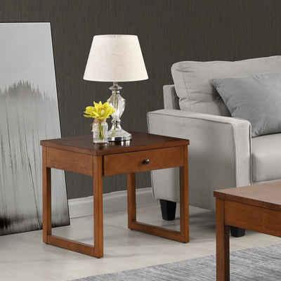 B&D home Beistelltisch »Couchtisch 14202«, Nachttisch, Sofatisch, telefontisch für Wohnzimmer, Schlafzimmer, Massivholz, retro