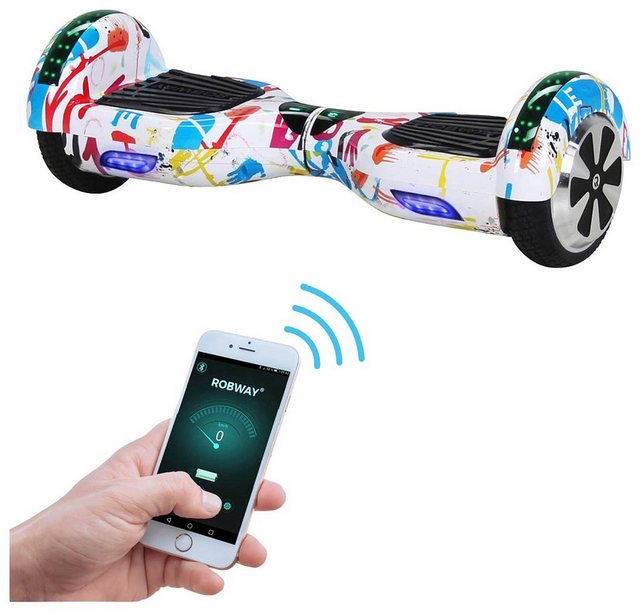 ROBWAY Hoverboard »W1«, 6,5 Zoll mit APP-Funktion*