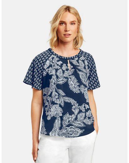 Taifun Kurzarmbluse »Blusenshirt mit Flügelärmeln« Blusenshirt