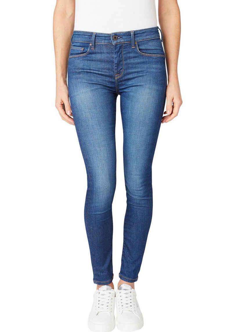 Pepe Jeans Röhrenjeans »ZOE« Super Skinny Passform mit normal hohem Bund in tollem Komfort Stretch Denim
