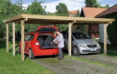 weka Doppelcarport »Optima 1«, 215 cm Einfahrtshöhe