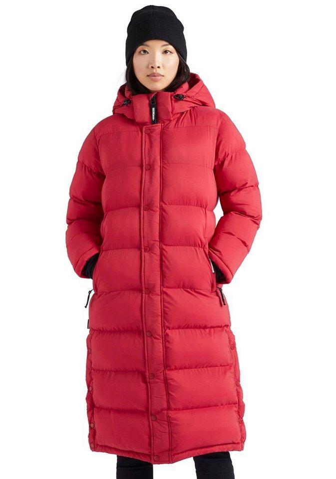 khujo -  Steppjacke »FEODORA Fake Down« stylischer Winter Steppmantel m. abnehmbarer Kapuze
