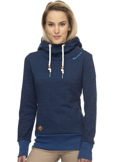 Ragwear Sweatshirt »YODA SWEAT« mit Allover Citrus-Frucht Kapuzen-Kontrast-Druck